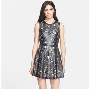 Parker Leather Cutout Dress $484 L